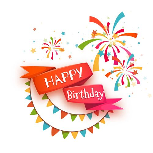 Cute happy birthday cards vector 01