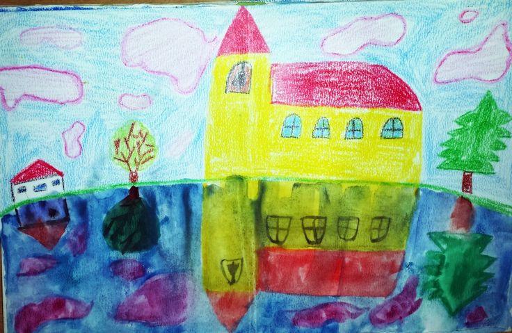 Odraz - simetrija 4.razred Pastele i vodene boje