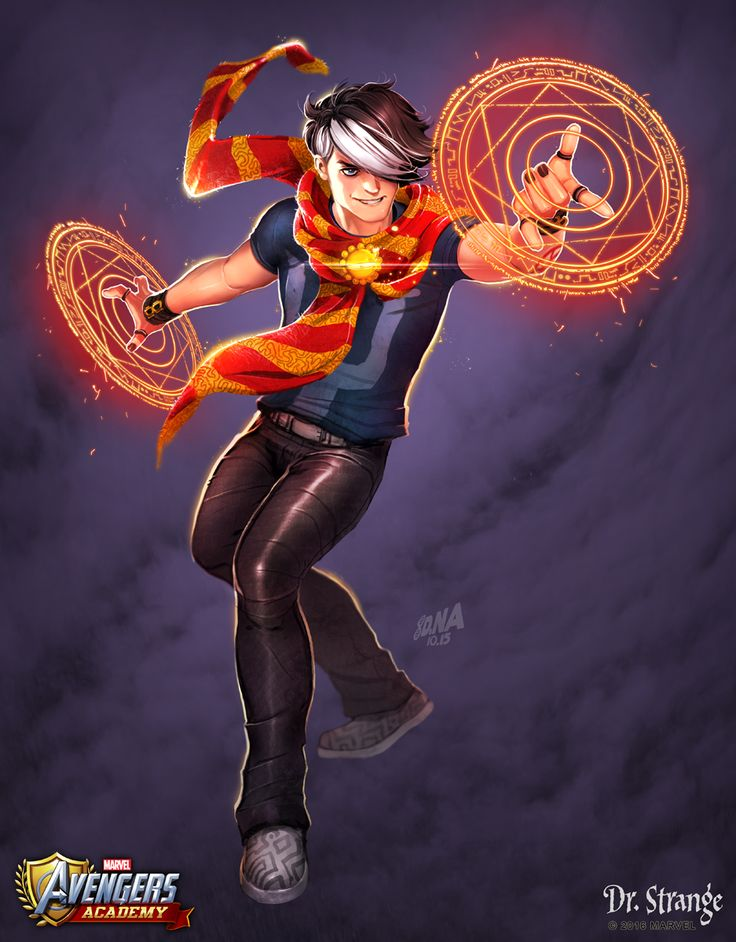 Concept art I did for a young Dr. Strange in our upcoming Avengers Academy event.  #marvel #avengers #avengersacademy #drstrange #davidnakayama