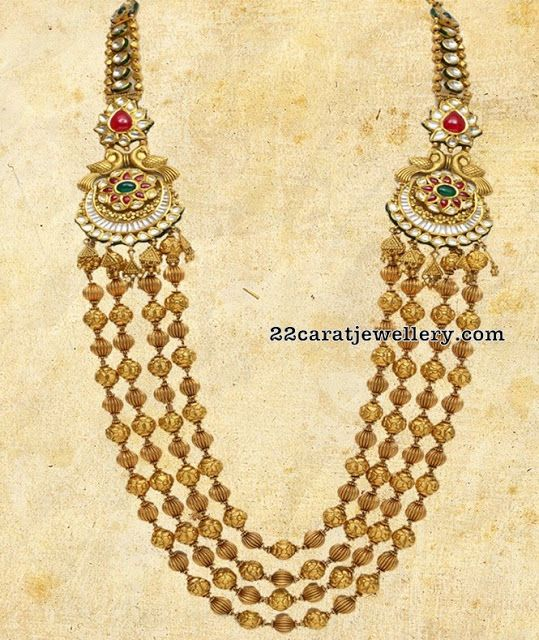 Four Layers Gold Beads Chain by VBJ - Jewellery Designs