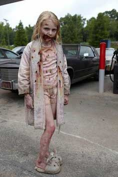Zombie Scary Kids Costume - little girl