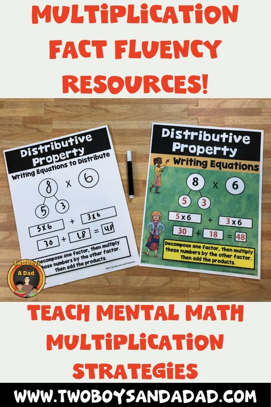 Multiplication fluency is more than just memorizing facts. It is also using a mental math strategy when recall fails. In this example, students use the distributive property strategy to multiply. Practicing with a template first until students can do then as mental math. Come check out the entire resource and watch a preview video!
