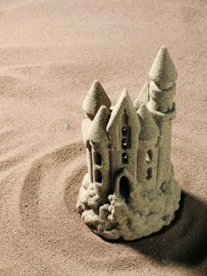 How to Make a Hardened Sand Castle Out of Baking Soda