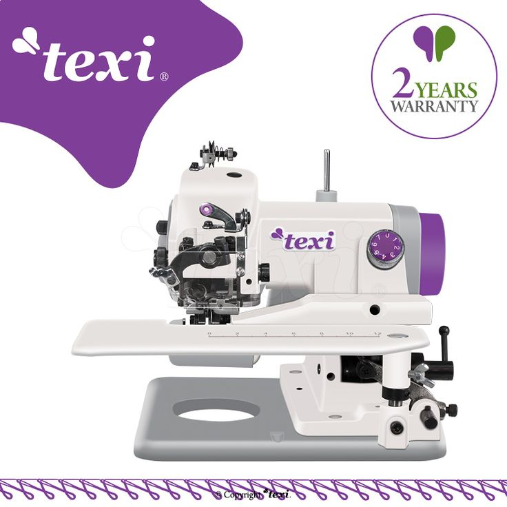 Texi Compacta 2YG - Portable blind stitch machine for light and medium fabrics - machine with 2 year warranty. #texisewing #sewingmachine #industrial