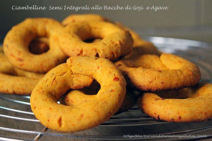 Ciambelline Semi Integrali Alle Bacche di Goji e Agave | Un cuore di farina senza glutine