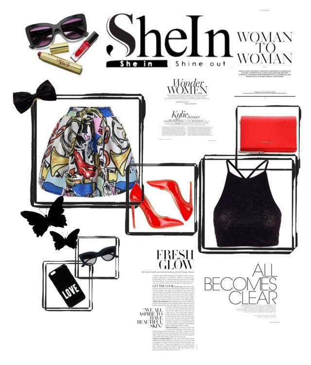 """SheIn"" by ordinary-fashion on Polyvore featuring moda, Y.A.S, Gianni Renzi, Givenchy, graffiti ve shein"