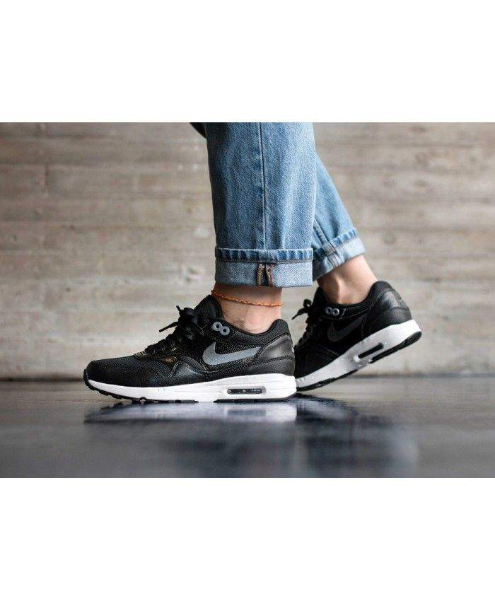 buy popular b6f85 2b367 Nike Air Max 1 Ultra 2.0 Black White Metallic Hematite Women s Shoes
