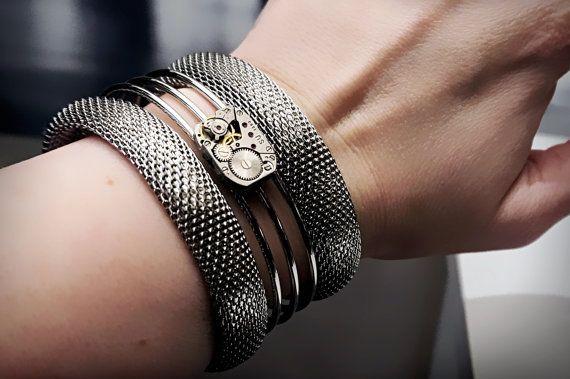 Steampunk BDSM bijoux bracelet manchette homme от SteampunkBDSM