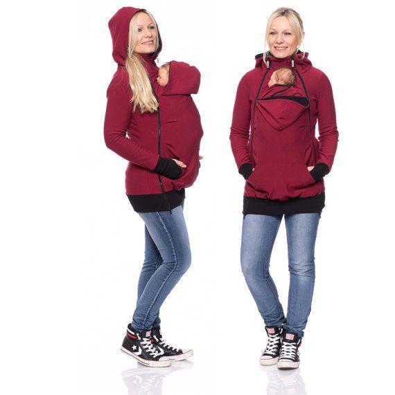 3 en 1 abrigo de porteo y embarazo chaqueta de por for Abrigo embarazo y porteo