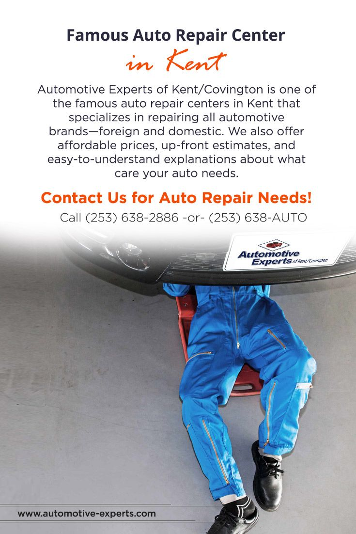 Automotive Experts of Kent/Covington is one of the famous #auto_repair_centers_in_Kent that specializes in repairing all automotive brands—foreign and domestic. We also offer affordable prices, up-front estimates, and easy-to-understand explanations about what care your auto needs.