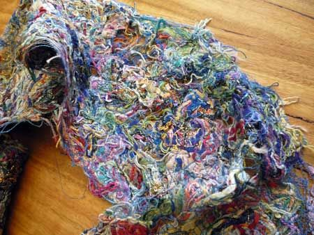 Make something from nothing using scrap thread or yarn