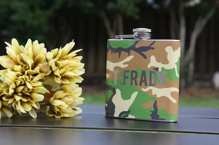 A personal favorite from my Etsy shop https://www.etsy.com/listing/488254250/camo-groomsmen-gift-personalized
