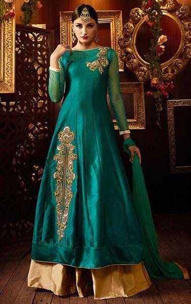 Enigmatic Emerald Lehenga Kameez. Indianwardrobe.com. R3730.00