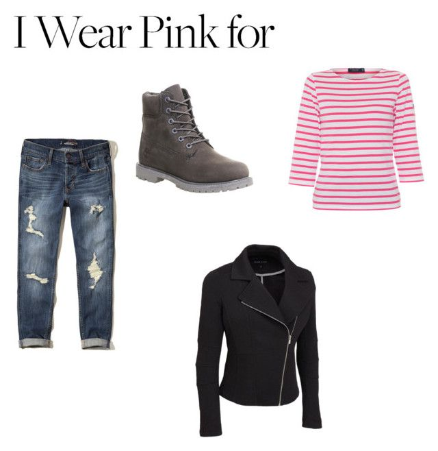 """Untitled #74"" by lolypop6767 on Polyvore featuring Saint James, Hollister Co., Timberland, IWearPinkFor and plus size clothing"