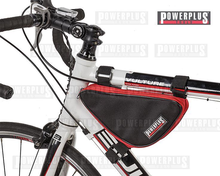 Rahmen - Dreieckstasche Die praktische Rahmentasche  ist ideal um Ihr Werkzeug, Flickzeug oder Ihre Sportnahrung zu verstauen. Verschlussystem: Reißverschluss Mit dem verstellbaren Klettverschluss können Sie die Rahmentasche an einen Rahmen bis zu einem Durchmesser von 50 mm anbringen Maße: 26,5 x 6 x 14 cm. Preis: € 6,95 zzgl.Versand, https://www.powerplustools.de/fahrradtaschen/rahmentasche-fur-fahrrad-rennrad-mountainbike-mtb-rahmen-dreieckstasche-dreiecktasche-fahrrad.html