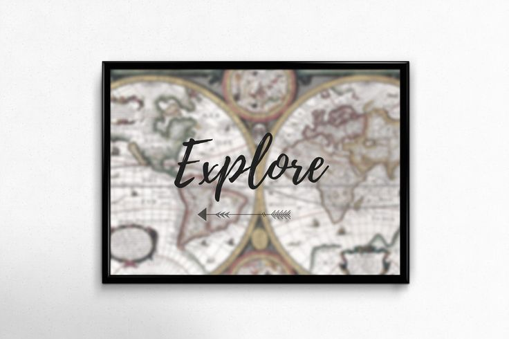 Plakat A3 dla fanów podróży - Posters-Monster - explore, travel poster, travel