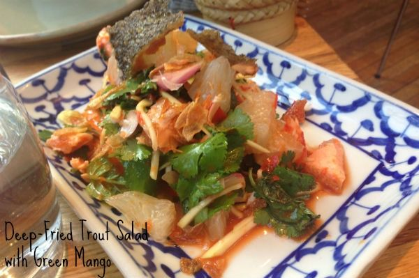 Deep-Fried Trout Salad with Green Mango in London Restaurants - 10 Dishes you Have to Try