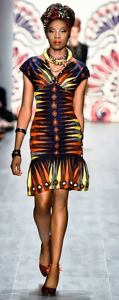 ♥Lena Hoschek Mercedes Benz Fashion Week  Berlin 2015  africanprintinfashion.com