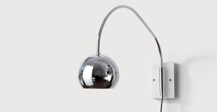 Bow Wall Lamp, Chrome