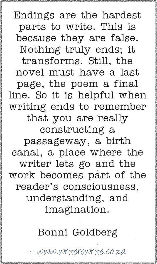 Writing endings