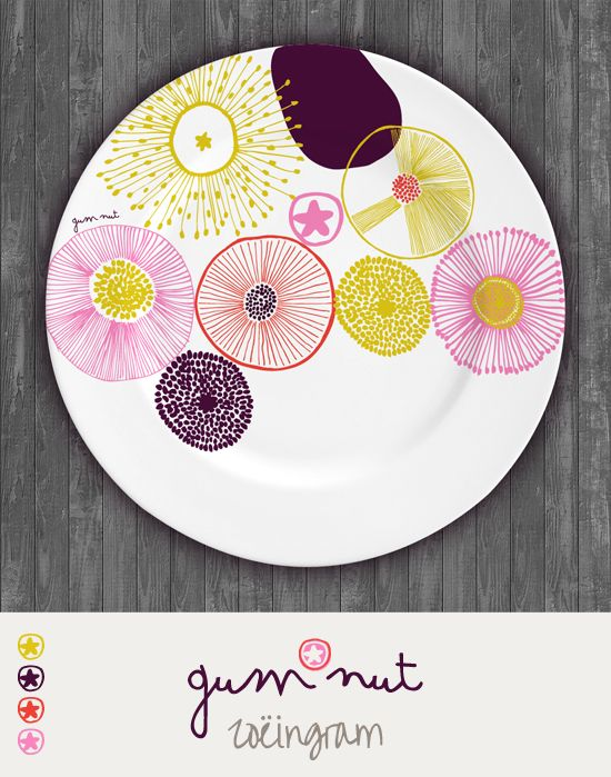 Zoe Ingram Gum Nut - one of my plate designs from the MATS course