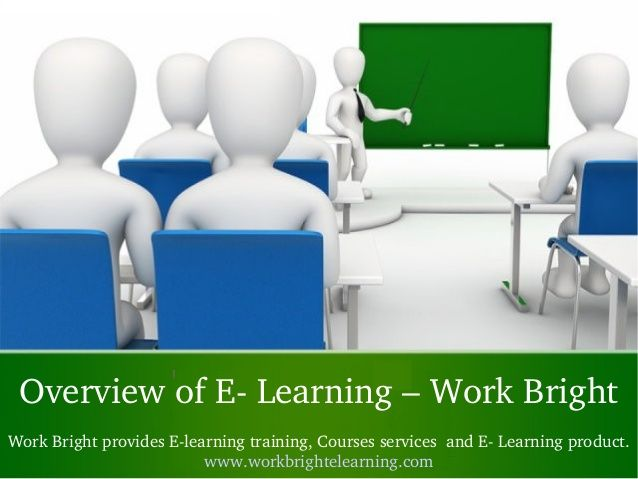 Work Bright E Learning provides E Learning solutions for educational, Accident Management, General and Custom E Learning. This presentation coves topic like What is E learning and benefits, why e learning importatnt and builing e leaning cultures and more. Get more infomration E Learning: www.workbrightelearning.com
