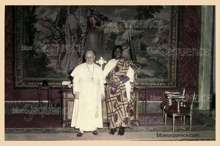 Chief Festus Samuel Okotie-Enoch of Nigeria with Pope John XXIII at the Vatican