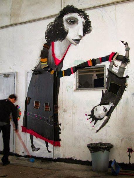 Greek urban artist Alexandros Vasmoulakis at work (Athens, Greece) #streetart #urbanart