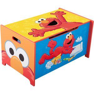 Sesame Street Wooden Toy Box