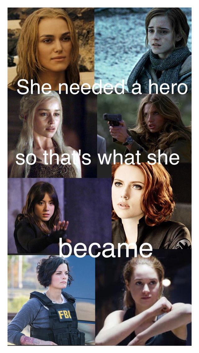 Elizabeth Swann, Hermione Granger, ?, Katherine Beckett, Daisy Quake Johnson, Natasha Romanoff, Jane Doe, and Tris Prior. Books - womens books - http://amzn.to/2j4SKjW