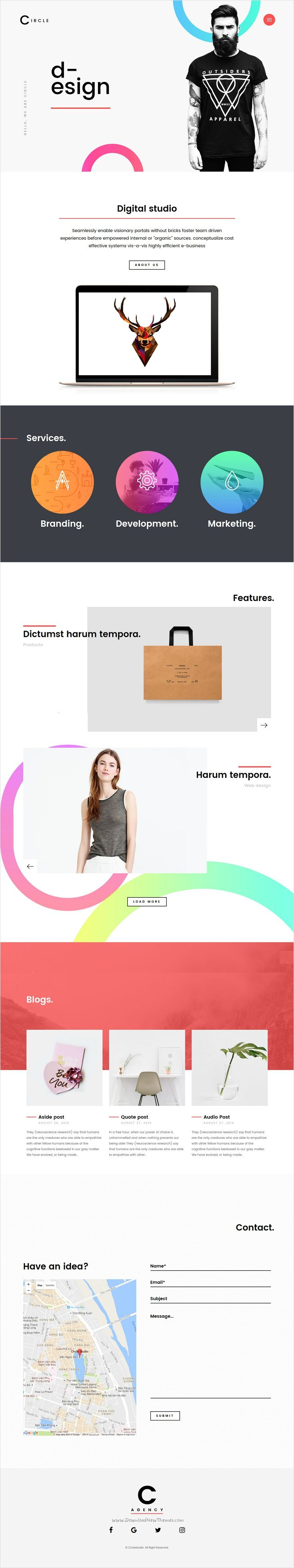 Circle is an ideal #WordPress #theme for #agencies that really want to differentiate themselves from their competitors to make a deeply impression on their potential clients and partners download now➩ https://themeforest.net/item/circle-creative-business-portfolio-blog-wordpress-theme/17910680?ref=Datasata