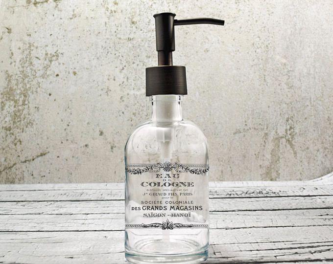 Hand Soap Dispensers | Farmhouse Bathroom Decor | Glass Soap Dispenser | Kitchen  Soap Dispenser | Bathroom Accessories