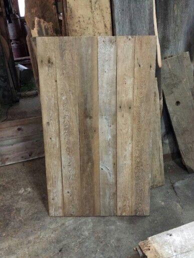 Dessus de table de salon en bois de grange
