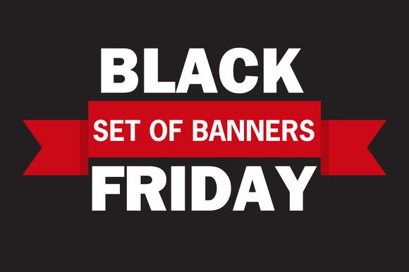 Black Friday discount vector banner by Dukesn on @creativemarket