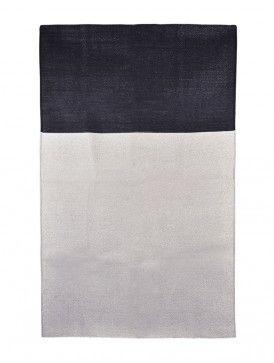 Color Block Cotton-Zari Dhurrie - 6ft x 4ft 4in