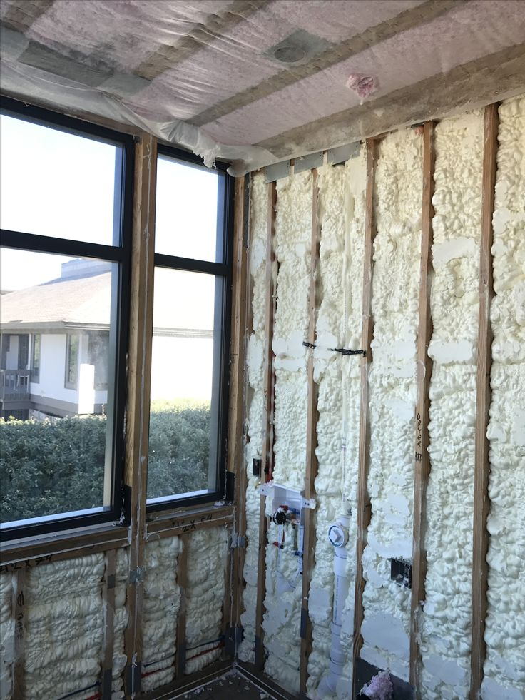 exterior spray foam sealant. spray foam insulation on the exterior walls with dense pack between floors for sound proofing sealant i