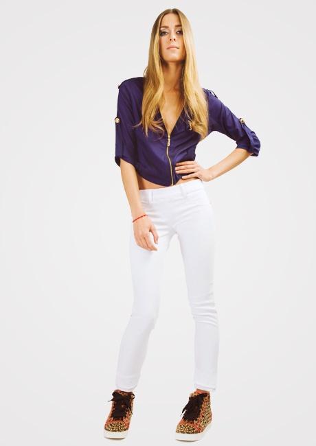 Witte skinny jeans-legging van Jacky Luxury. | FASHION OBSESSION