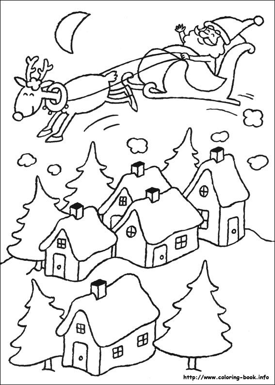 Christmas coloring pages to print ...a ton plus links to other color page sites!