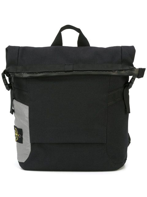 STONE ISLAND top zip square backpack. #stoneisland #bags #pvc #backpacks #stone #polyester #