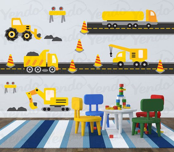 Truck Decal  Construction Wall Decal Transportation Wall