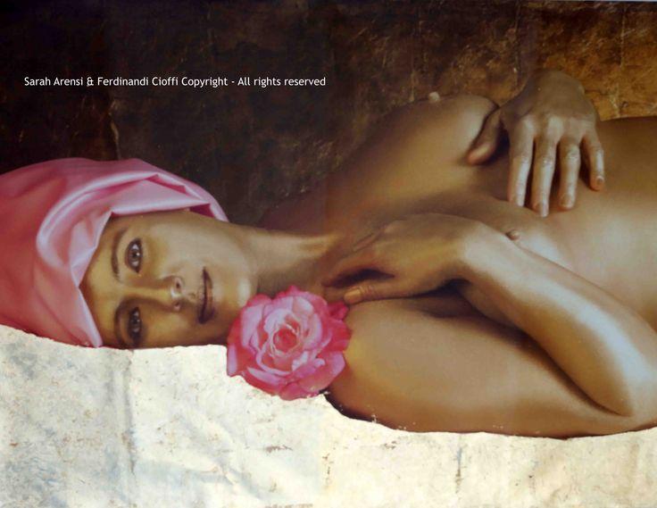 """Peace"" from Virtues series   FotoPainting on canvas 125x95 cm   Sarah Arensi&Ferdinando Cioffi 2013"