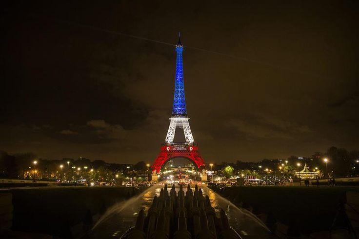 Parigi: il tricolore francese illumina la Torre Eiffel   FOTO - Galleria Fotografica - MetropolisWeb