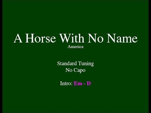 A Horse With No Name - Easy Guitar (Chords and Lyrics) - YouTube
