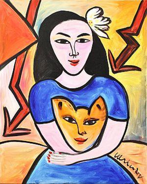 Ulrika Hydman Vallien Woman and Cat (Pharyah)