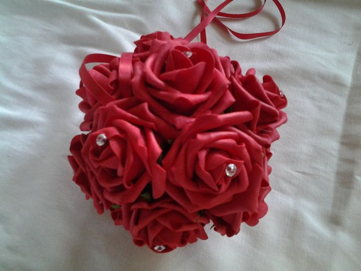Red poly foam pomander