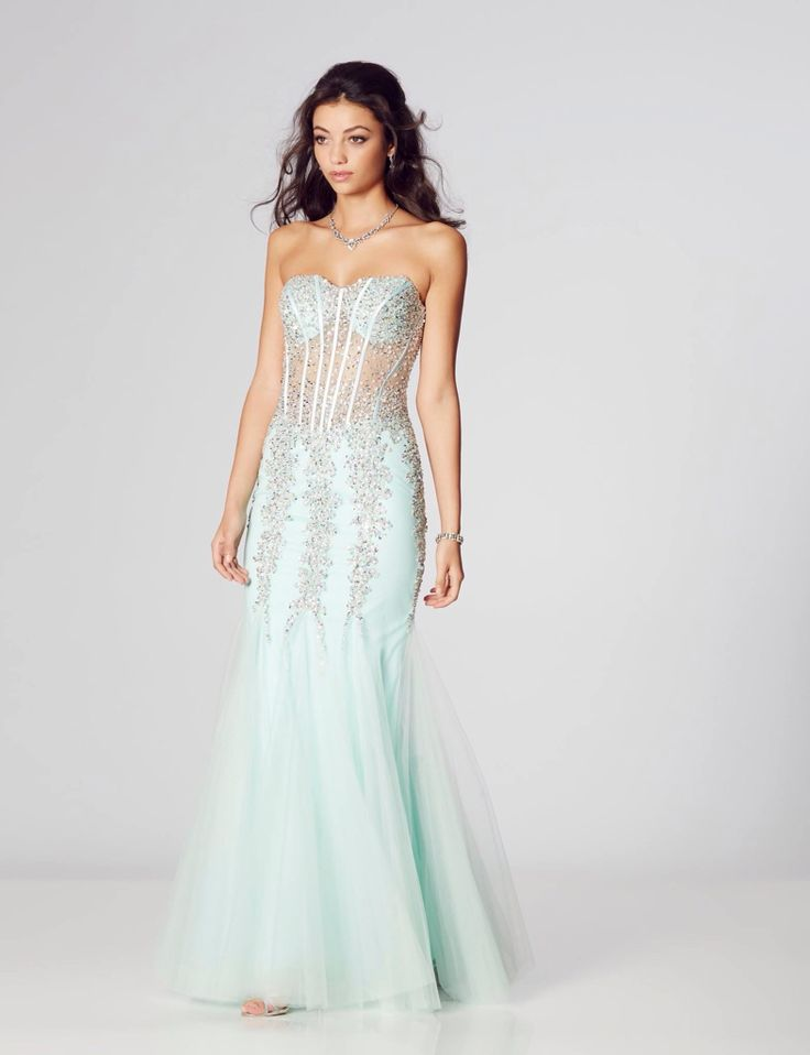 """Eliza"" by Tiffany prom, mint prom dress,  available at Bridal Oasis, Goole. Prom 2017."