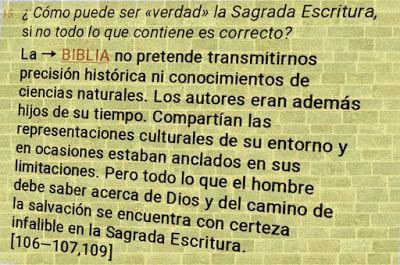 DENIS STELLA BAQUERO MILLÁN: ¿Como puede ser verdad la Sagrada Escritura, si no...