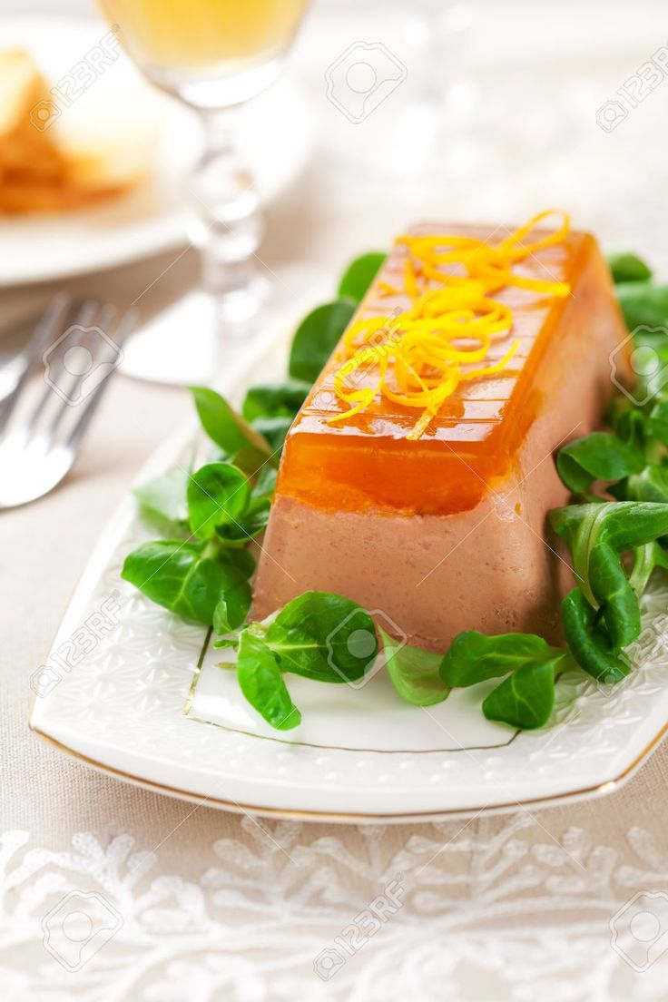 Chicken-liver-pate-with-orange-jelly-for-holiday-Stock-Photo