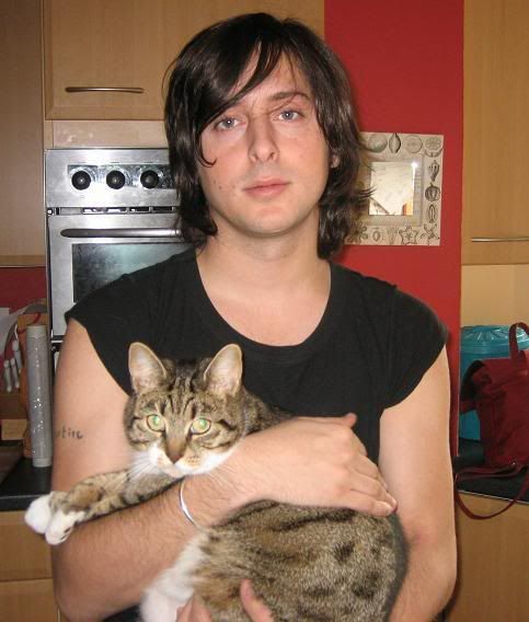 Carl Barat musician, actor, author and cat person.