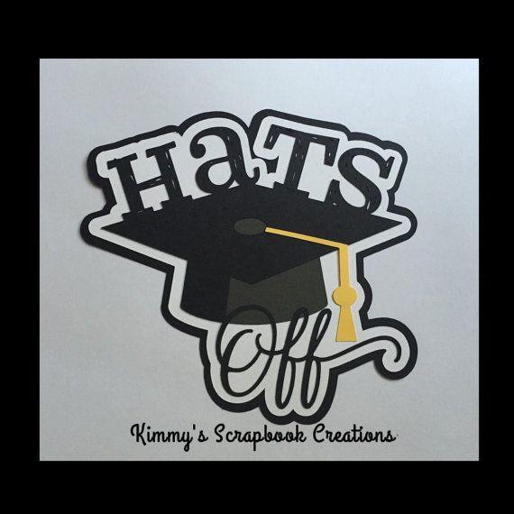 Hats off graduation scrapbook title Premade by KimmysScrapbooking